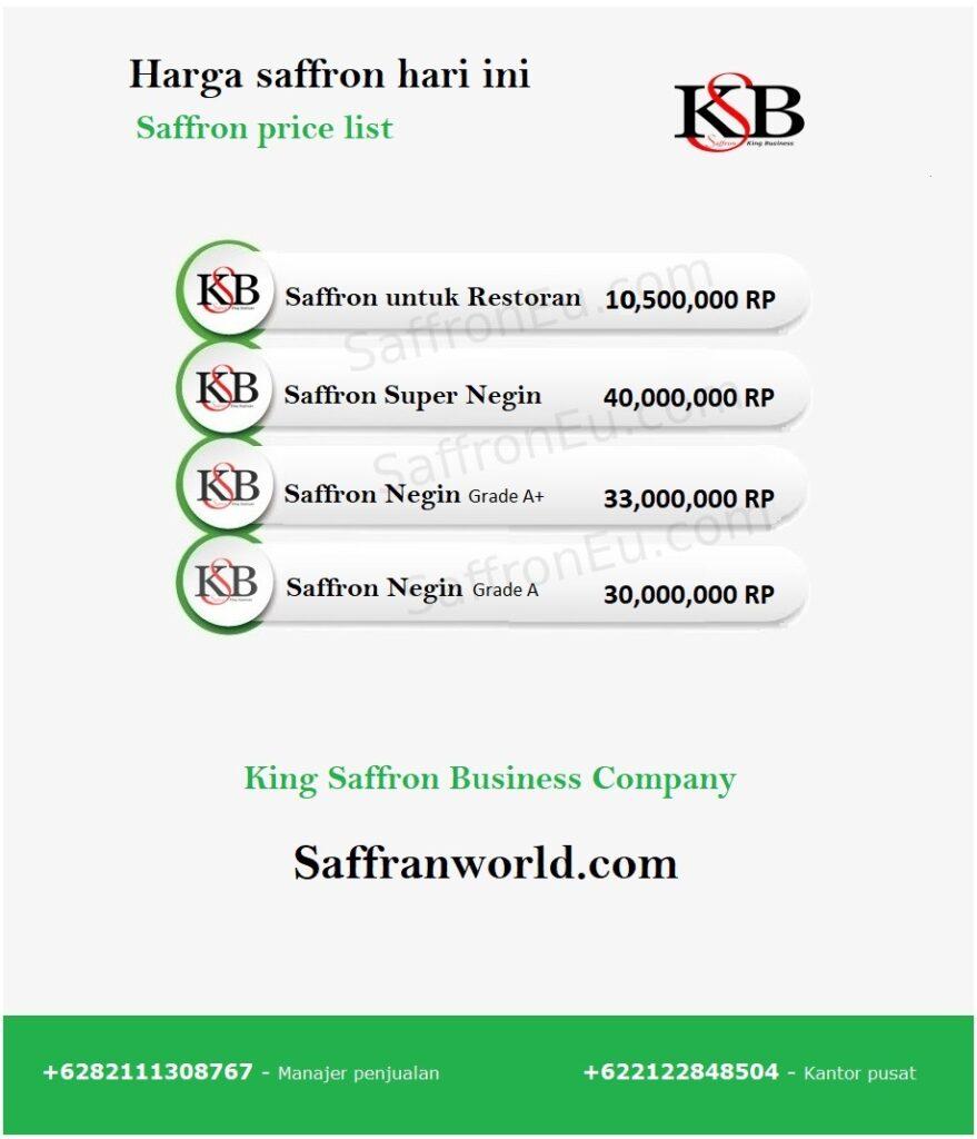 What is the price per kilo of saffron?